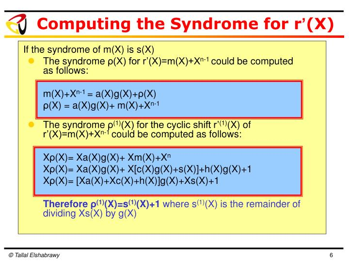 If the syndrome of m(X) is s(X)