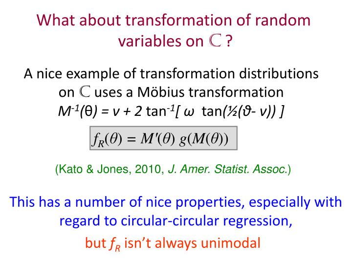 A nice example of transformation distributions