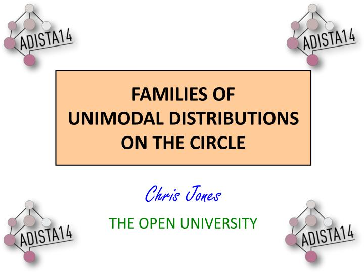 Families of unimodal distributions on the circle
