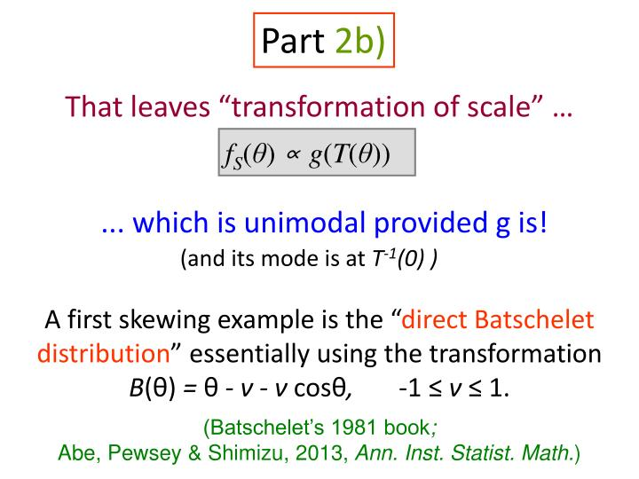 "That leaves ""transformation of scale"" …"