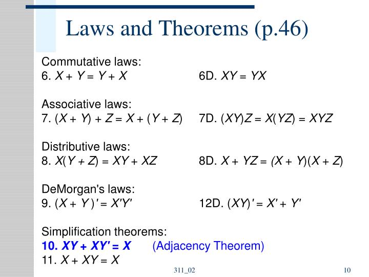 Laws and Theorems