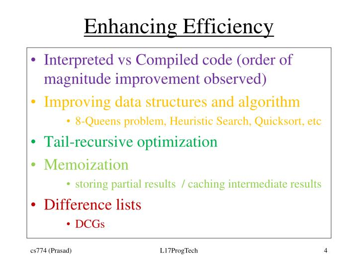 Enhancing Efficiency