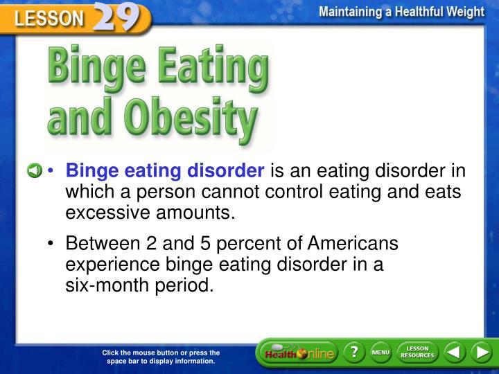 Binge Eating and Obesity