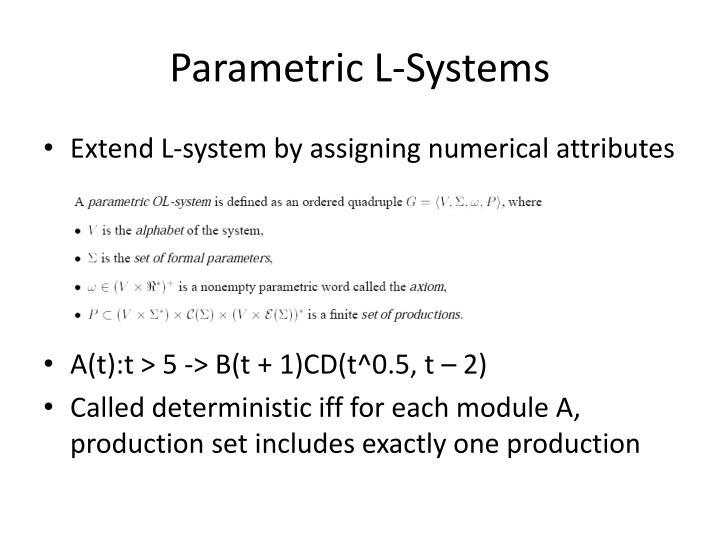 Parametric L-Systems
