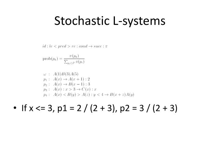 Stochastic L-systems
