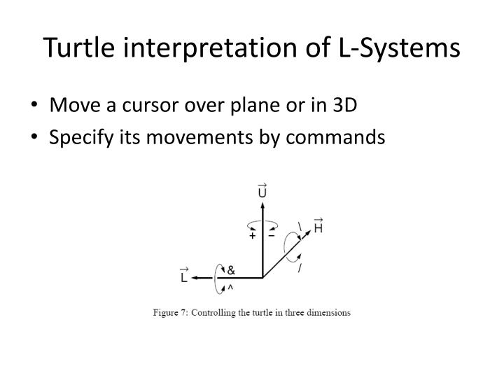 Turtle interpretation of L-Systems