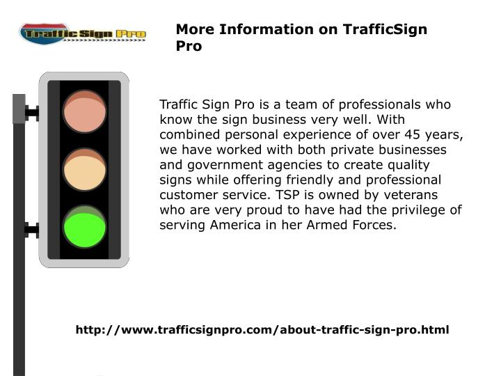 More Information on TrafficSign Pro