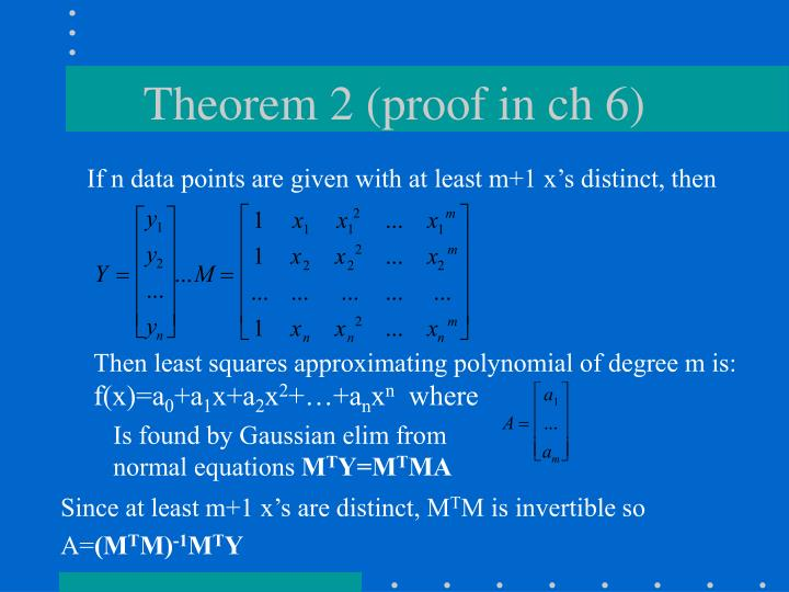 Theorem 2 (proof in ch 6)