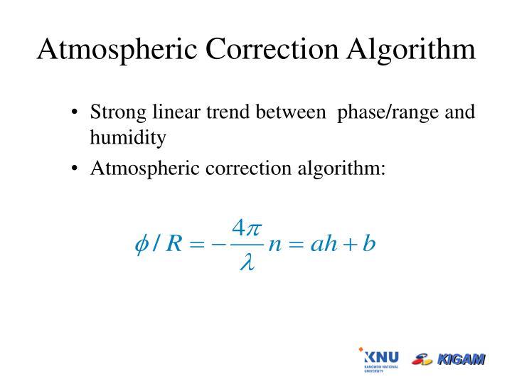 Atmospheric Correction Algorithm