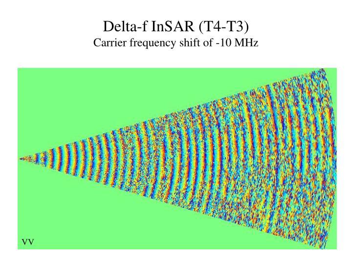 Delta-f InSAR (T4-T3)