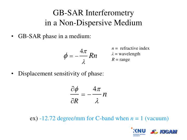 GB-SAR Interferometry