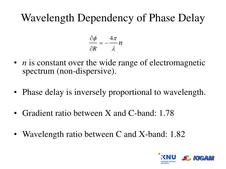 Wavelength Dependency of Phase Delay