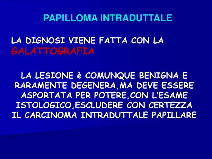 PAPILLOMA INTRADUTTALE