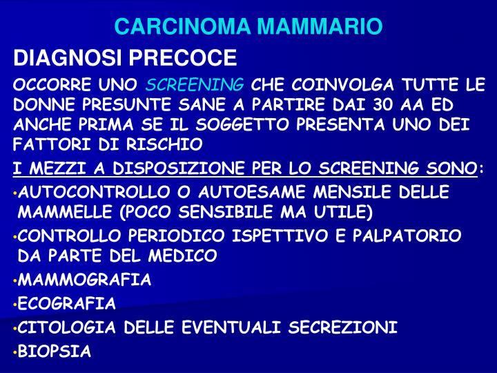 CARCINOMA MAMMARIO