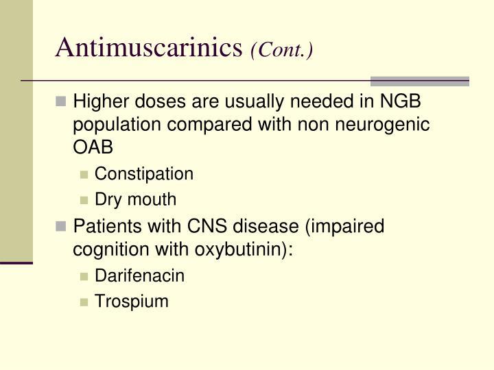 Antimuscarinics