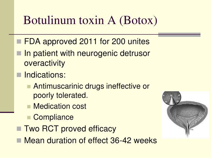 Botulinum toxin A (Botox)
