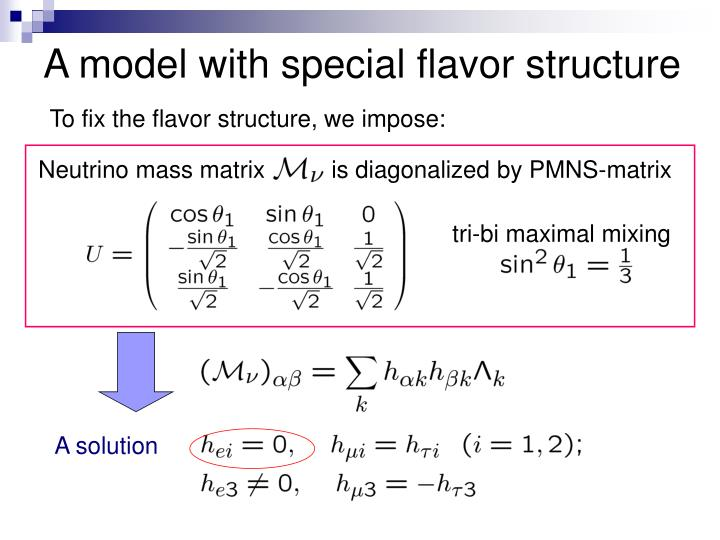 A model with special flavor structure