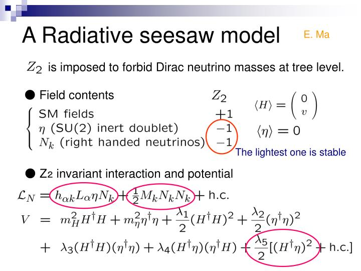 A Radiative seesaw model