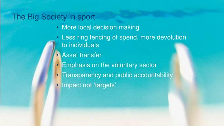 The Big Society in sport
