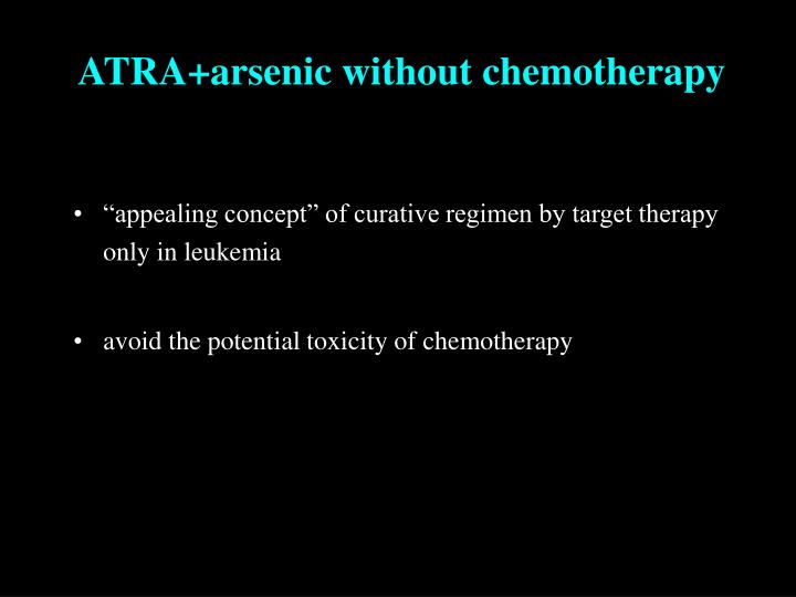 ATRA+arsenic without chemotherapy