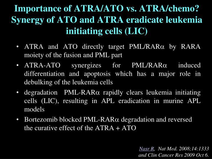 Importance of ATRA/ATO vs. ATRA/chemo?