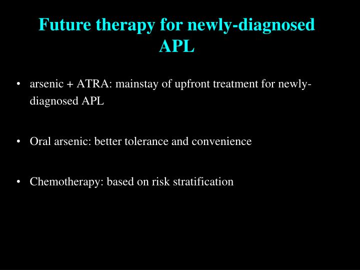Future therapy for newly-diagnosed APL