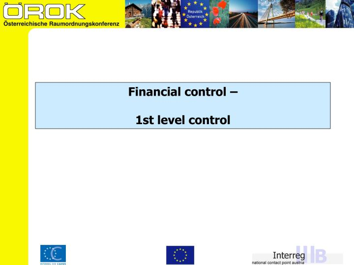 Financial control –