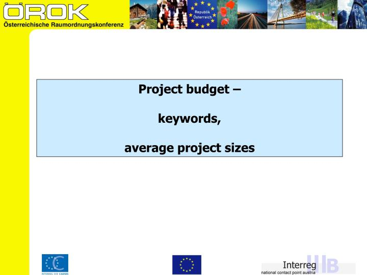 Project budget –