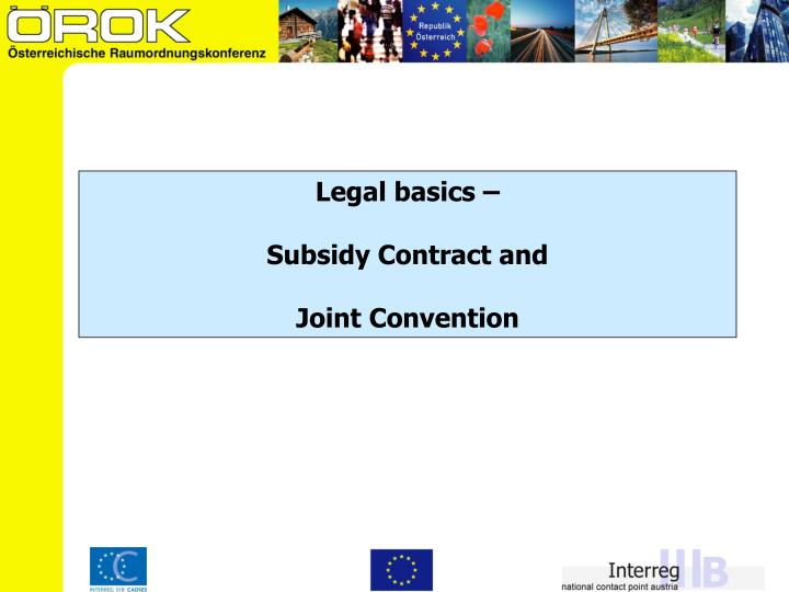 Legal basics –