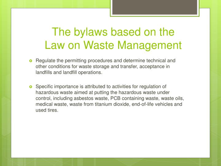 The bylaws based on the