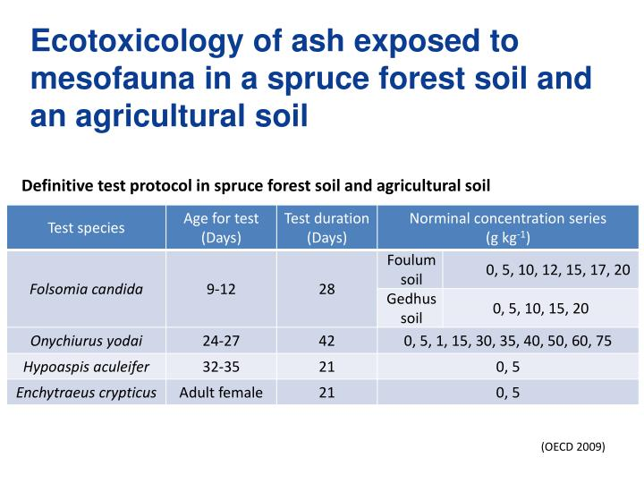 Ecotoxicology of ash