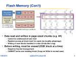 flash memory con t