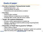goals of paper