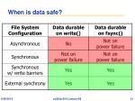 when is data safe
