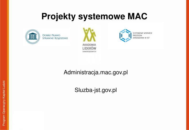 Projekty systemowe MAC