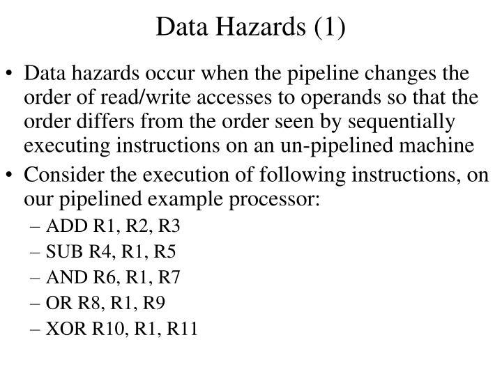 Data Hazards (1)