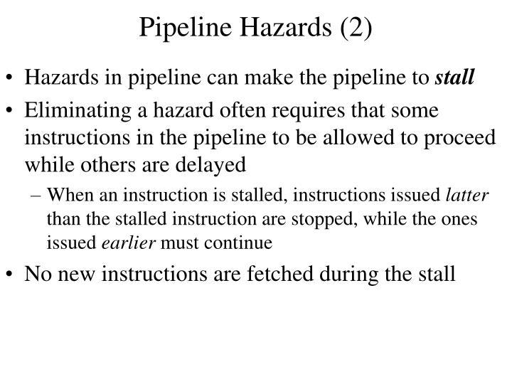 Pipeline Hazards (2)