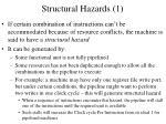 structural hazards 1