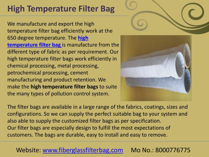 High Temperature Filter Bag
