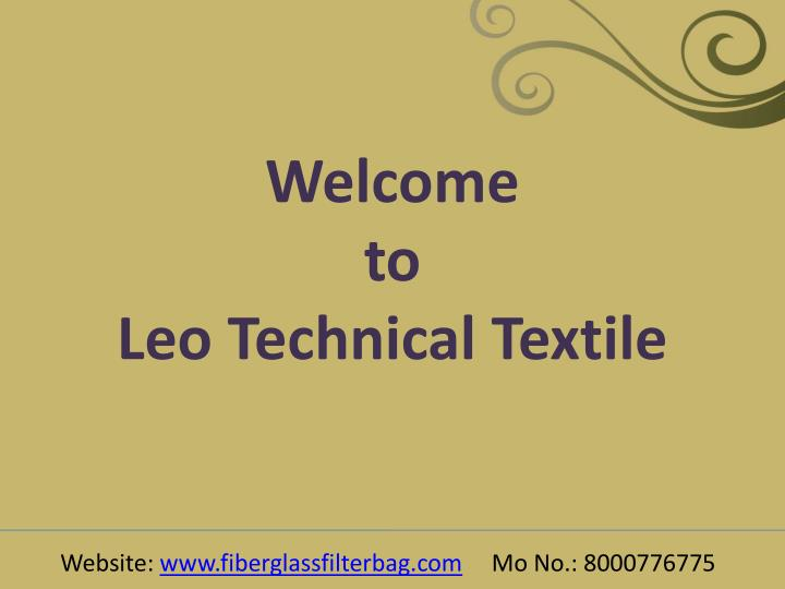 Welcome to leo technical textile