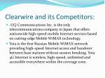 clearwire and its competitors1