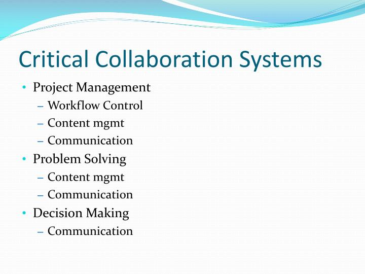 Critical Collaboration Systems