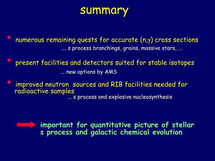 important for quantitative picture of stellar