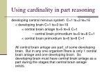 using cardinality in part reasoning