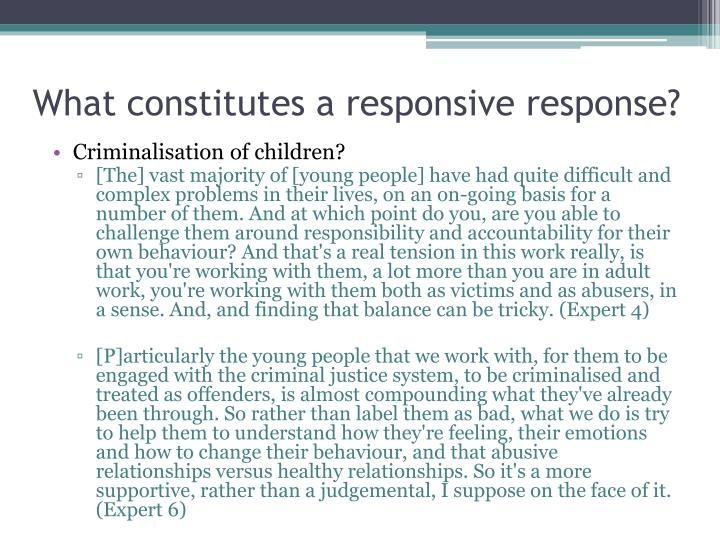 What constitutes a responsive response?