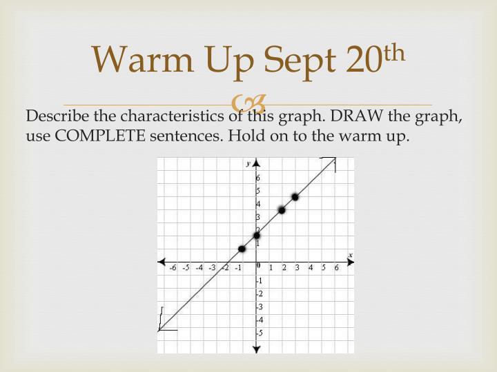 Warm Up Sept 20