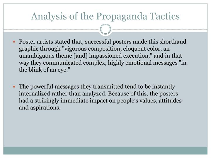 Analysis of the Propaganda Tactics