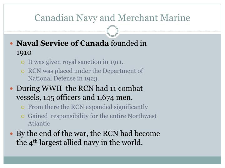 Canadian Navy and Merchant Marine