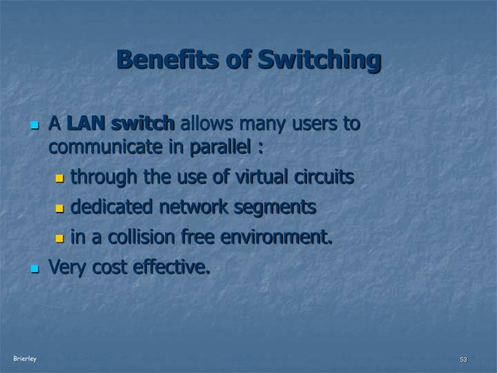 Benefits of Switching