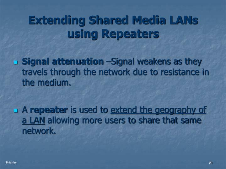 Extending Shared Media LANs using Repeaters